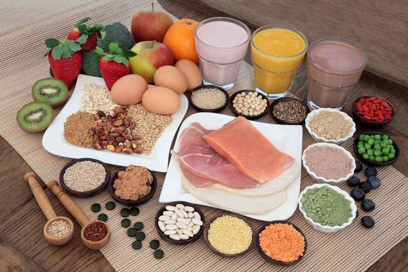 chế độ ăn uống lành mạnh: cân bằng 5 nhóm chất