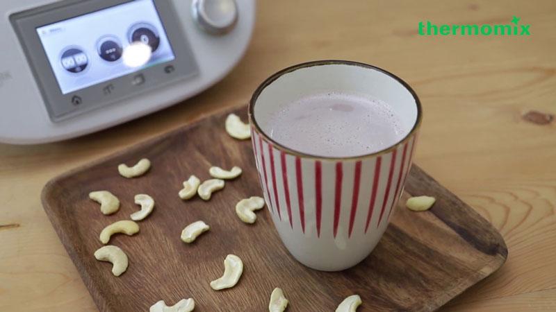 quy trình làm sữa hạt bằng máy thermomix