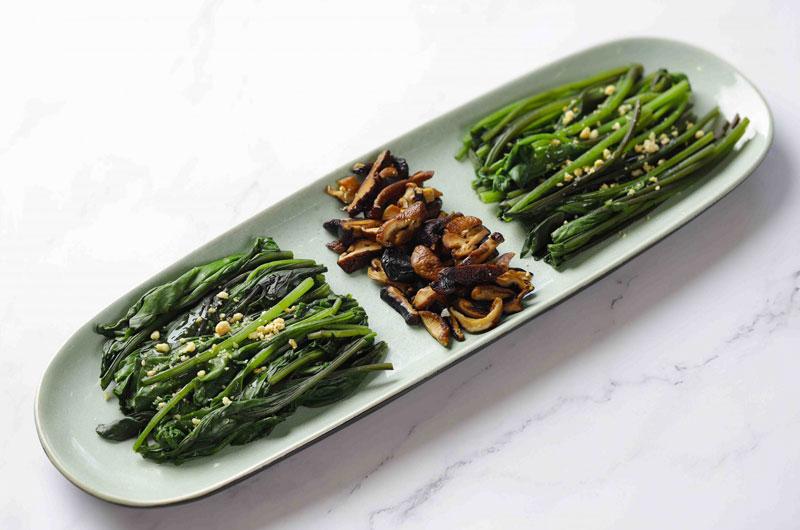 Thermomix nấu món chay: salad cải bó xôi
