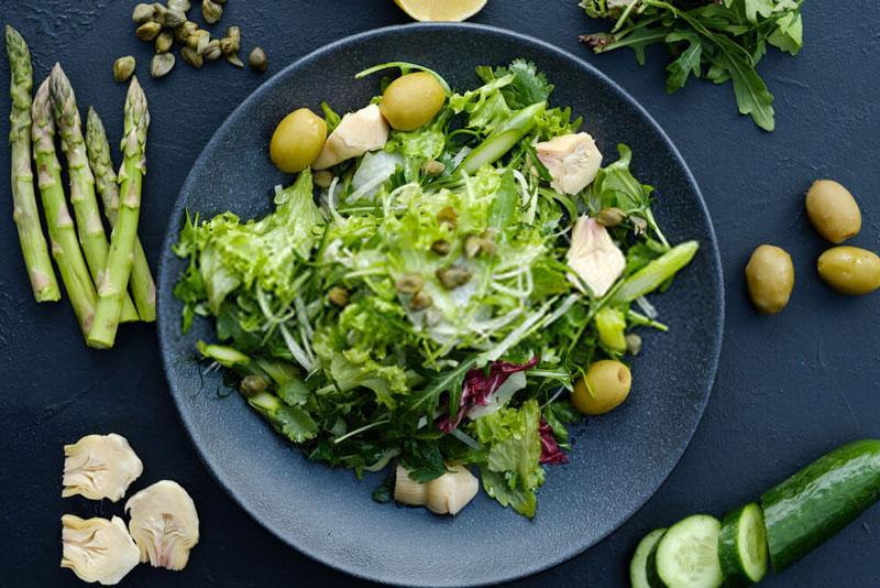 chế độ ăn nhiều rau củ, trái cây