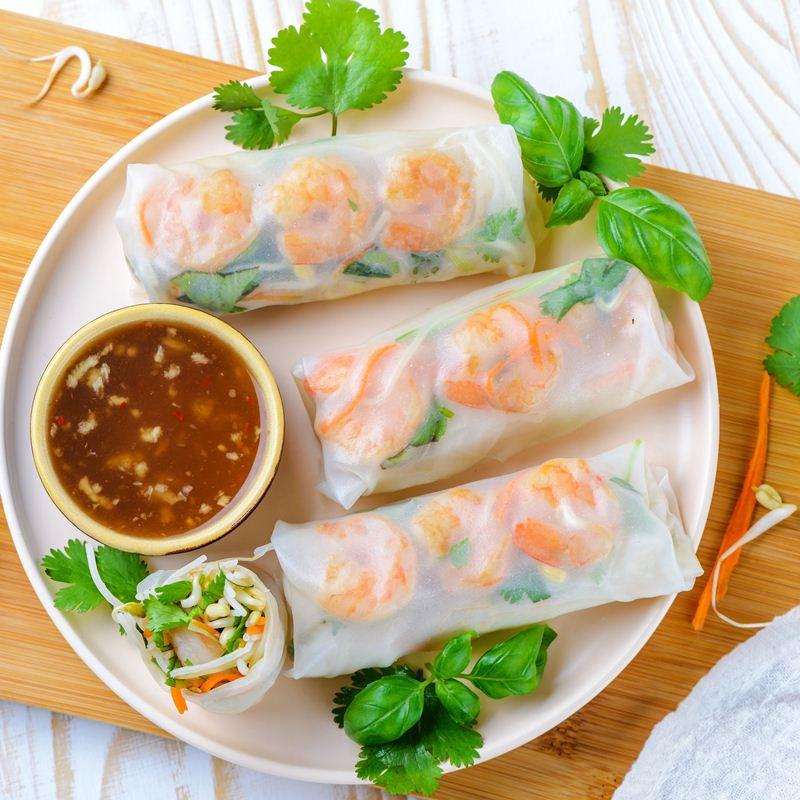 Nộm và đồ cuốn là món ăn rất tốt cho sức khỏe