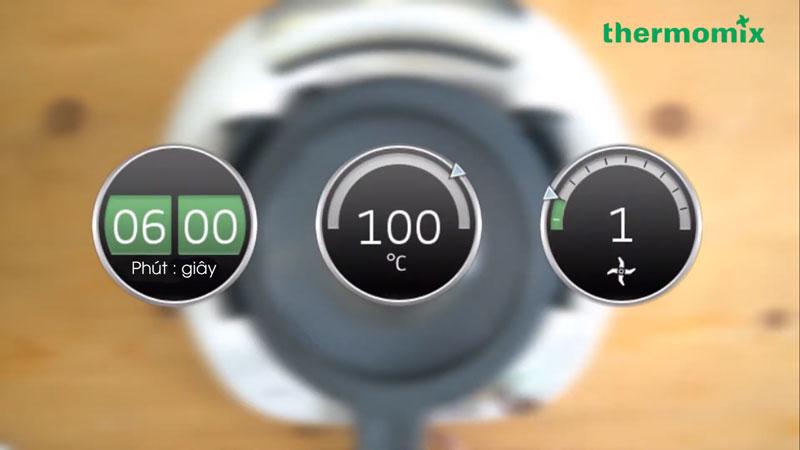 Thời gian - Nhiệt Độ - Tốc độ hiển thị trên màn hình cảm ứng