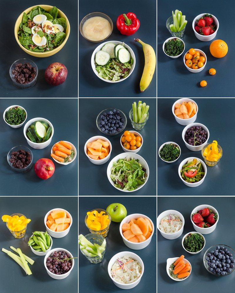 sử dụng rau củ và hoa quả