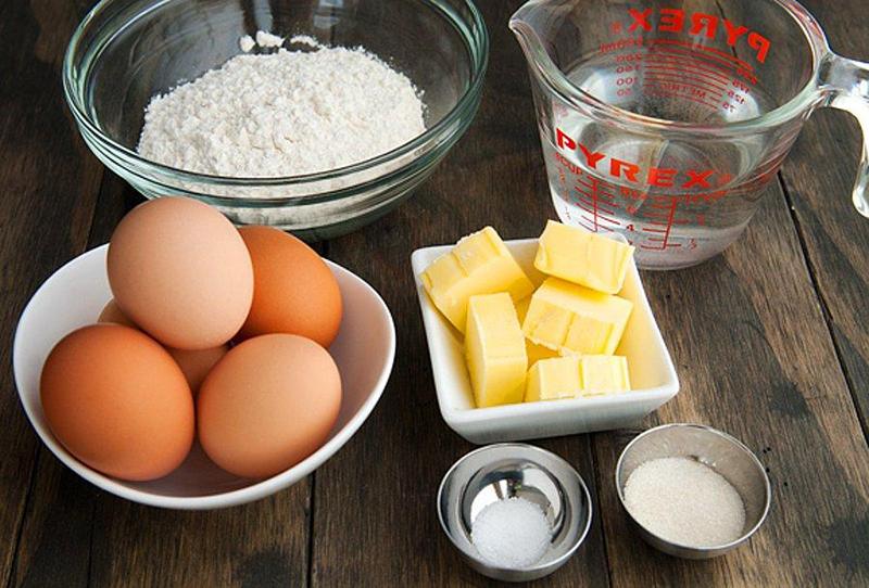 nguyên liệu làm bánh bông lan bằng nồi cơm điện