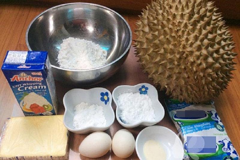 nguyên liệu làm bánh crepe sầu riêng kem tươi