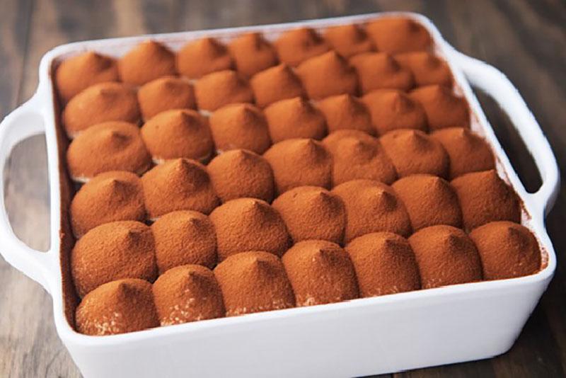 Thành phẩm bánh tiramisu phô mai