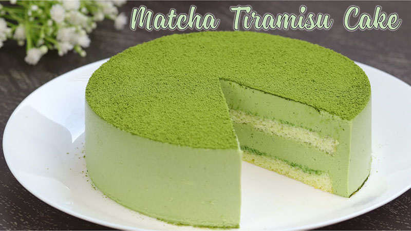 Thành phẩm Tiramisu trà xanh