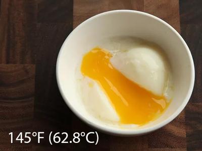 trứng nấu chậm ở nhiệt độ 145F