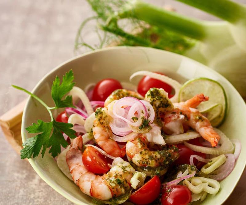 Salad tôm Sicily món ăn đặc trưng của người Ý.